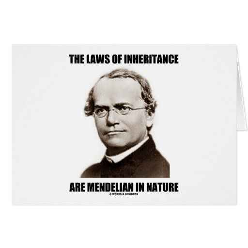 The Laws Of Inheritance Are Mendelian In Nature Greeting Card