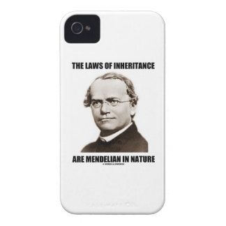 The Laws Of Inheritance Are Mendelian In Nature iPhone 4 Case