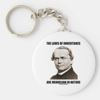 The Laws Of Inheritance Are Mendelian In Nature Basic Round Button Keychain