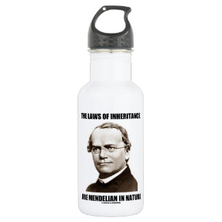 The Laws Of Inheritance Are Mendelian In Nature Water Bottle