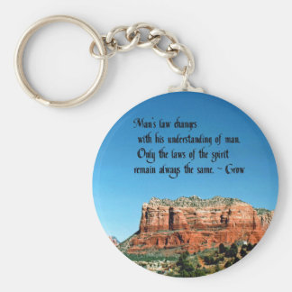 The Laws of Spirit Basic Round Button Keychain
