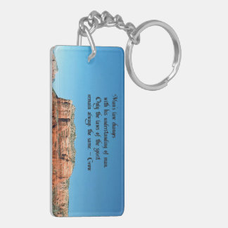 The Laws of Spirit Double-Sided Rectangular Acrylic Keychain