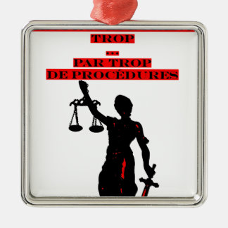 The Lawsuits Last too much per too many Procedures Metal Ornament