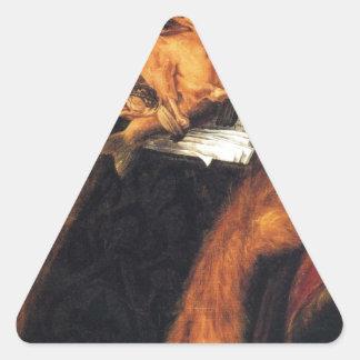 The Lawyer by Giuseppe Arcimboldo Triangle Sticker
