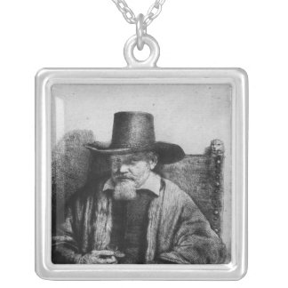 The Lawyer Tolling Square Pendant Necklace