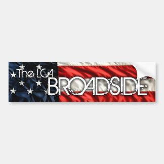 The LCA Broadside Bumper Sticker Car Bumper Sticker