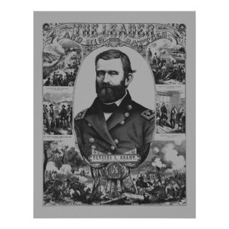 The Leader And His Battles -- Ulysses S. Grant Poster