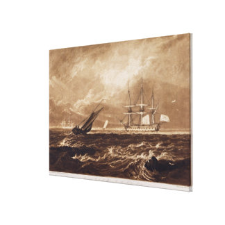 The Leader Sea Piece, engraved by Charles Turner ( Canvas Print