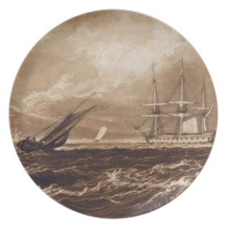 The Leader Sea Piece, engraved by Charles Turner ( Melamine Plate
