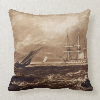 The Leader Sea Piece, engraved by Charles Turner ( Pillow
