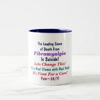 The Leading Causeof Death From, Fibromyalgia, I... Two-Tone Coffee Mug