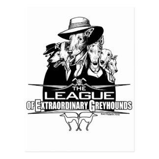 The League of Extraordinary Greyhounds Postcard