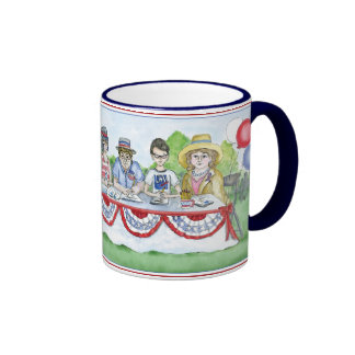 The League of Women Voters at the Fourth of July P Ringer Mug