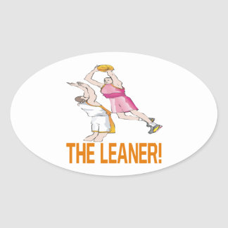 The Leaner Oval Sticker