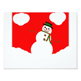 THE LEANING SNOWMAN CARD