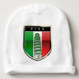 The Leaning Tower Of Pisa And The Italian Flag Baby Beanie