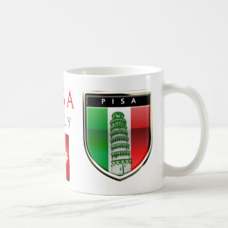 The Leaning Tower Of Pisa And The Italian Flag Coffee Mug