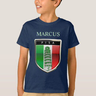 The Leaning Tower Of Pisa And The Italian Flag T-Shirt