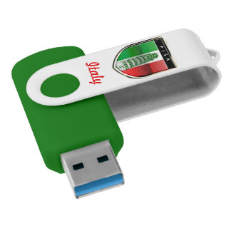 The Leaning Tower Of Pisa And The Italian Flag USB Flash Drive