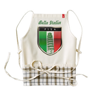 The Leaning Tower Of Pisa And The Italian Flag Zazzle HEART Apron