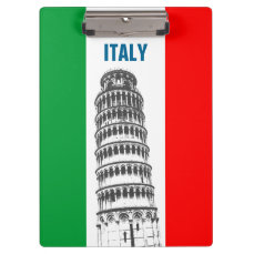 The Leaning Tower Of Pisa And The Pisan Cross Clipboard
