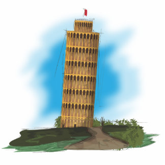 The Leaning Tower of Pisa Cutout