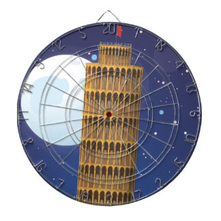 The Leaning Tower of Pisa Dartboard