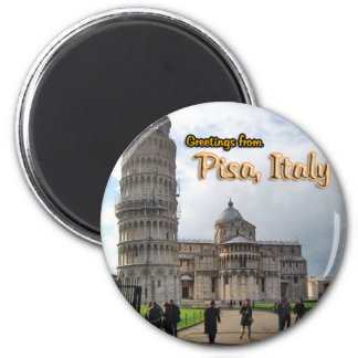 The Leaning Tower of Pisa, Italy 2 Inch Round Magnet