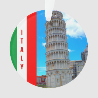 The Leaning Tower of Pisa, Italy and Pisan Cross Ornament