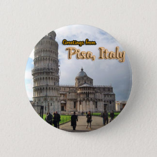 The Leaning Tower of Pisa, Italy Pinback Button