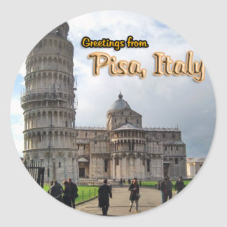 The Leaning Tower of Pisa, Italy Round Sticker