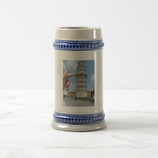 the leaning tower of Pisa 18 Oz Beer Stein