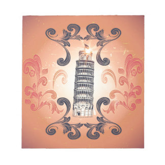 The leaning tower of Pisa Memo Pads