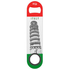 The Leaning Tower Of Pisa Over The Italian Flag Bar Key