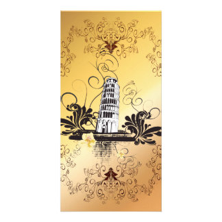 The leaning tower of Pisa Photo Card