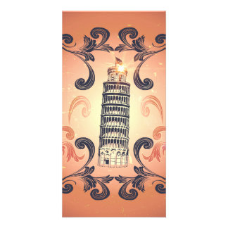The leaning tower of Pisa Photo Card Template