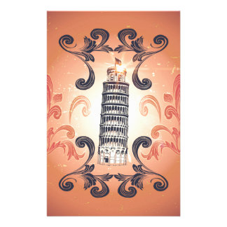 The leaning tower of Pisa Stationery