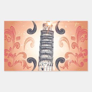 The leaning tower of Pisa Rectangular Sticker