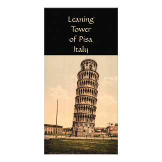 The Leaning Tower of Pisa, Tuscany, Italy Customized Photo Card