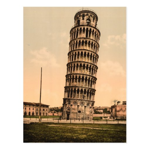 The Leaning Tower of Pisa, Tuscany, Italy Postcard