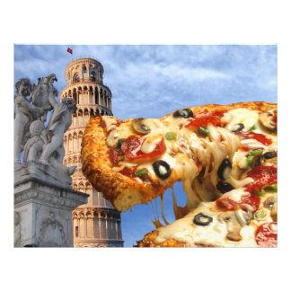 The Leaning Tower of Pizza (Pisa) Flyer
