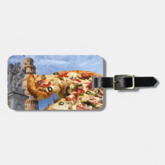 The Leaning Tower of Pizza (Pisa) Luggage Tag