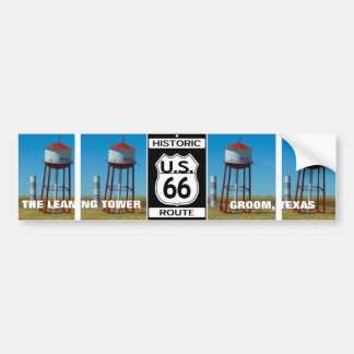 The Leaning Tower of Texas in Groom - Highway 66 Bumper Sticker