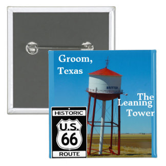 The Leaning Tower of Texas in Groom - Highway 66 Button