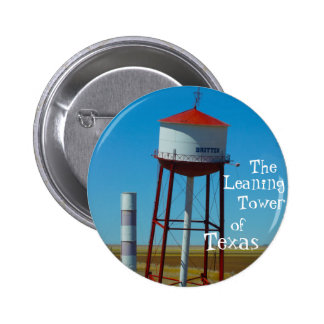 The Leaning Tower of Texas in Groom - Highway 66 Pinback Button
