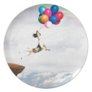 The leap of Faith Melamine Plate