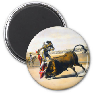The Leap or Salta Tras Cuernos 2 Inch Round Magnet