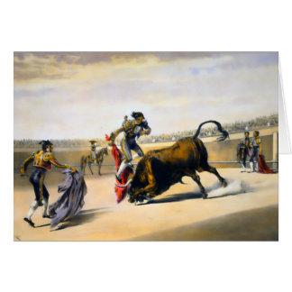 The Leap or Salta Tras Cuernos Card