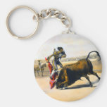 The Leap or Salta Tras Cuernos Key Chain