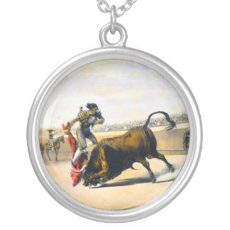 The Leap or Salta Tras Cuernos Round Pendant Necklace